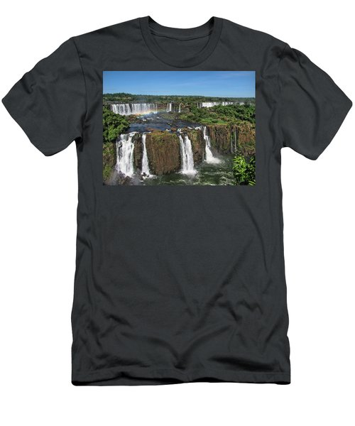 Iguazu Falls Men's T-Shirt (Slim Fit) by David Gleeson