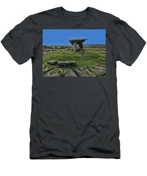 Men's T-Shirt (Slim Fit) featuring the photograph Poulnabrone Dolmen by David Gleeson