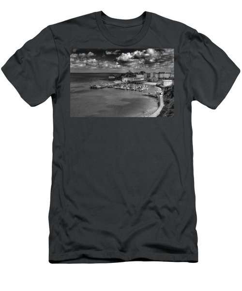 Men's T-Shirt (Slim Fit) featuring the photograph Tenby Harbour by Steve Purnell