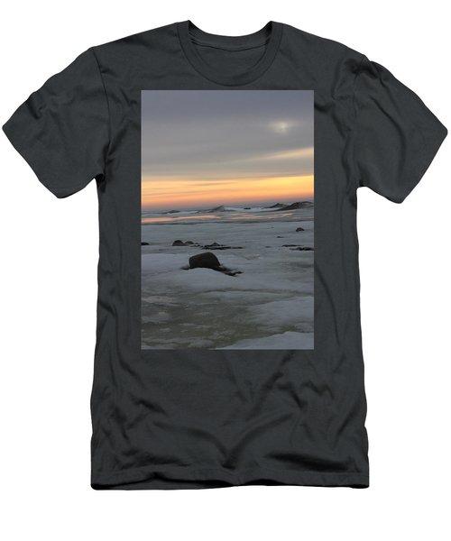 Winter Evening Lights Men's T-Shirt (Athletic Fit)