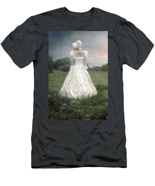 Woman With Bonnet Men's T-Shirt (Athletic Fit)