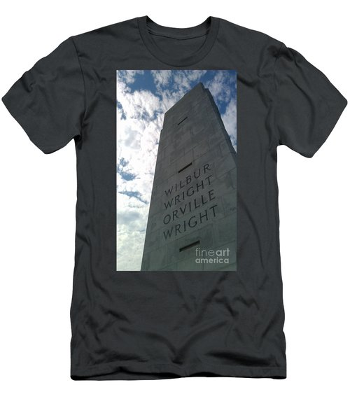 Wright Brothers Memorial Men's T-Shirt (Slim Fit) by Tony Cooper