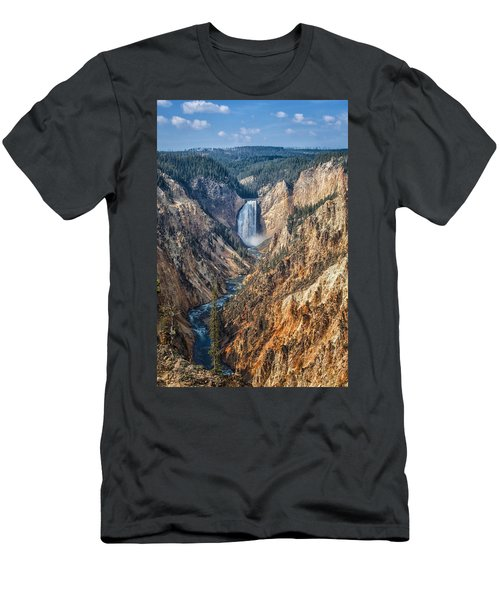 Yellowstone Lower Falls Men's T-Shirt (Athletic Fit)