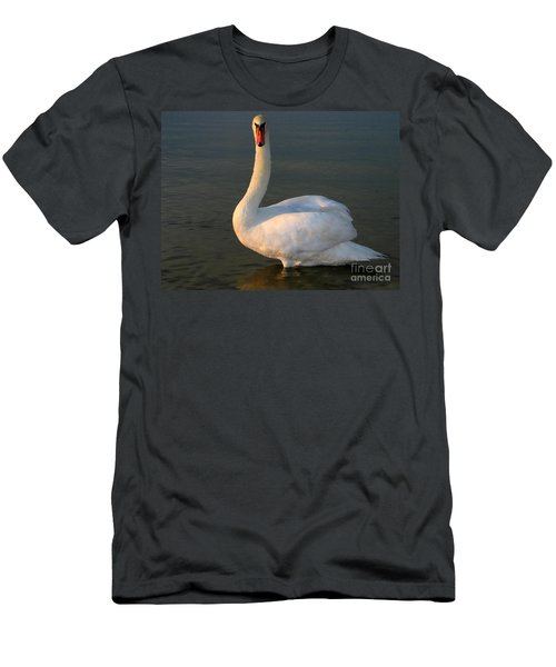 Men's T-Shirt (Slim Fit) featuring the photograph Swan by Odon Czintos
