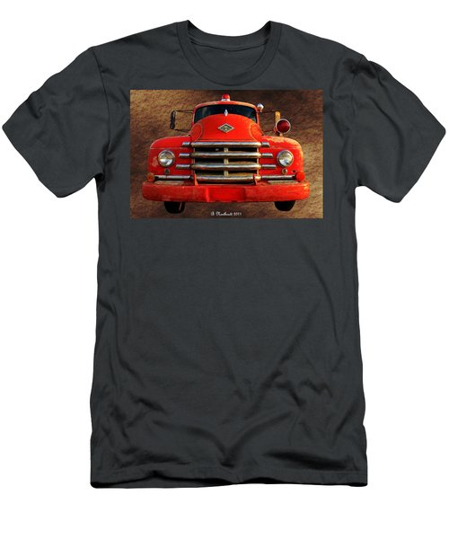 1955 Diamond T Grille - The Cadillac Of Trucks Men's T-Shirt (Slim Fit) by Betty Northcutt
