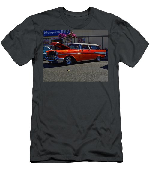 Men's T-Shirt (Slim Fit) featuring the photograph 1957 Belair Wagon by Tikvah's Hope
