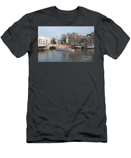 City Scenes From Amsterdam Men's T-Shirt (Slim Fit) by Carol Ailles