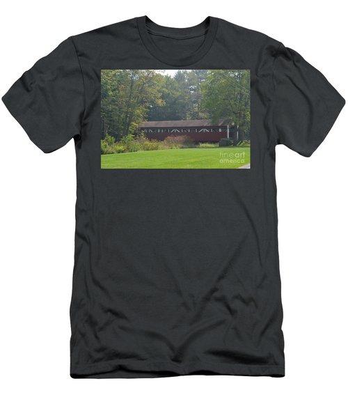 Covered Bridge Men's T-Shirt (Slim Fit) by Randy J Heath