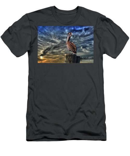 Men's T-Shirt (Slim Fit) featuring the photograph Pelican At Sunset by Dan Friend