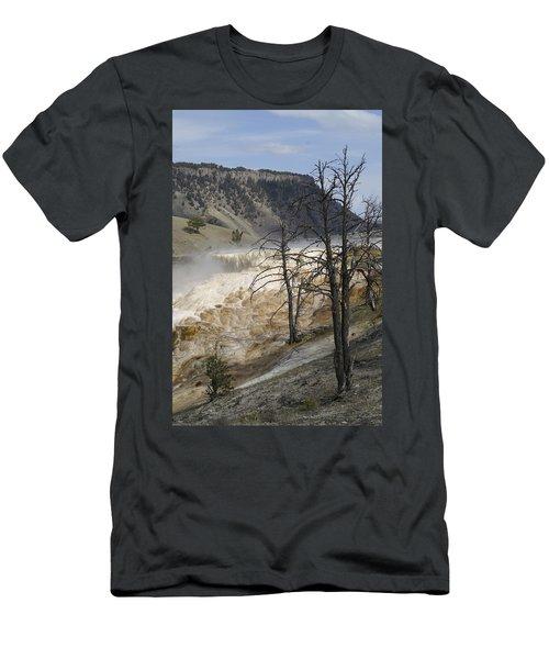 Yellowstone Nat'l Park Men's T-Shirt (Slim Fit) by Henri Irizarri