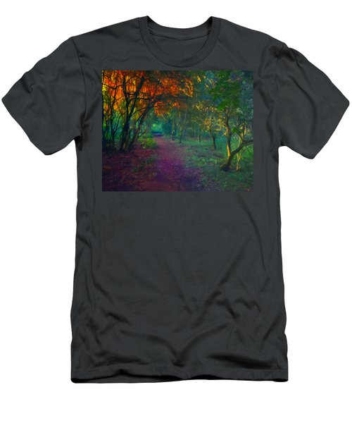 Men's T-Shirt (Slim Fit) featuring the painting A Place Of Mystery by Joe Misrasi