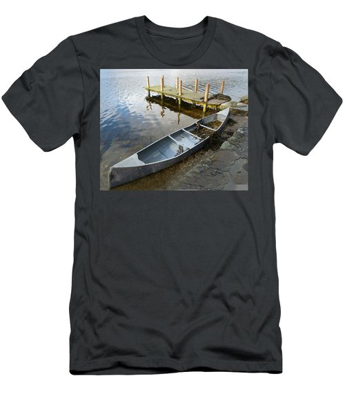Men's T-Shirt (Slim Fit) featuring the photograph Abandoned Canoe by Lynn Bolt