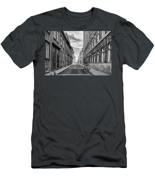 Men's T-Shirt (Slim Fit) featuring the photograph Abandoned Street by Eunice Gibb
