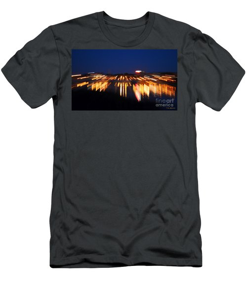 Abstract - City Lights Men's T-Shirt (Slim Fit) by Sue Stefanowicz