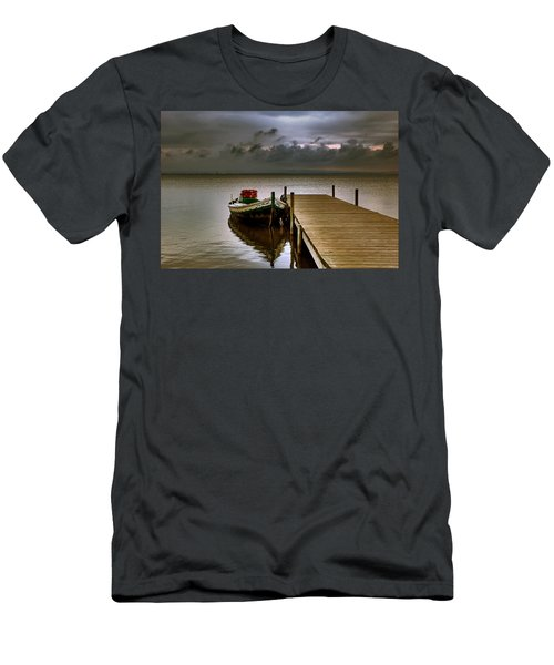 Albufera Before The Rain. Valencia. Spain Men's T-Shirt (Athletic Fit)