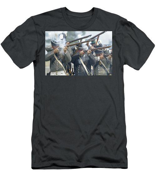 American Infantry Firing Men's T-Shirt (Athletic Fit)