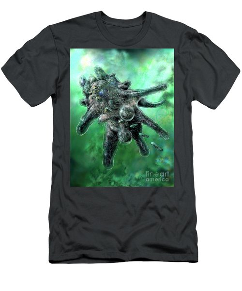 Amoeba Green Men's T-Shirt (Athletic Fit)