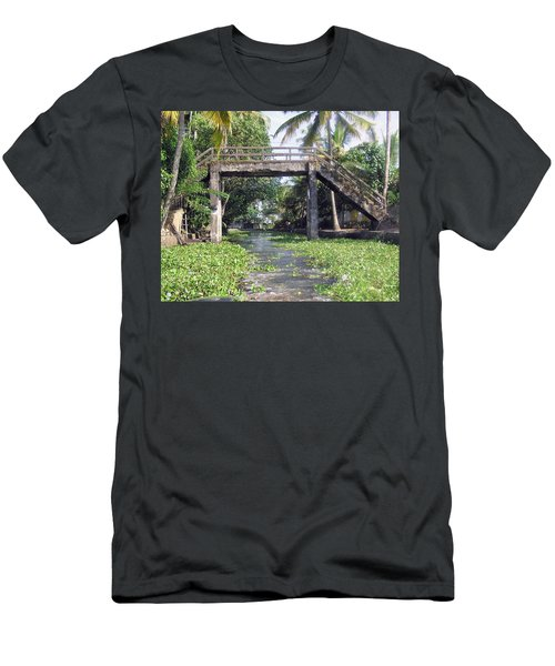 An Old Stone Bridge Over A Canal In Alleppey Men's T-Shirt (Athletic Fit)