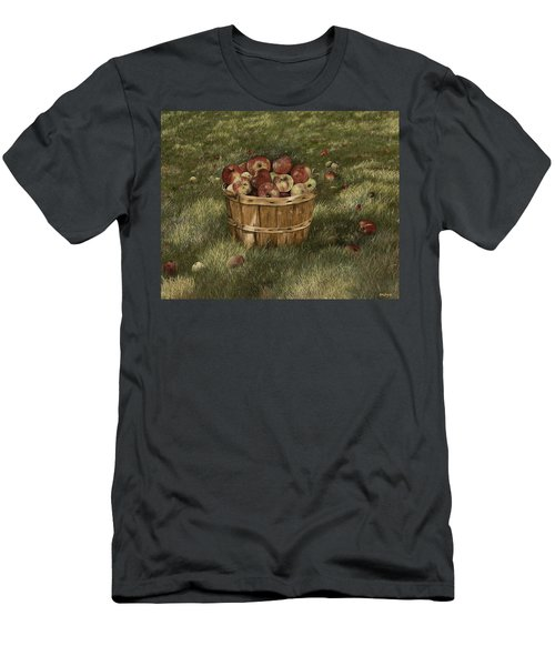 Apples In Basket Men's T-Shirt (Athletic Fit)