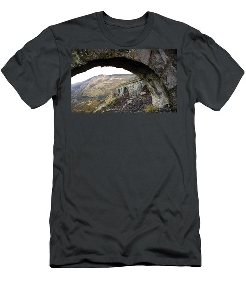 Men's T-Shirt (Slim Fit) featuring the photograph Arches And Mountains by Steve McKinzie