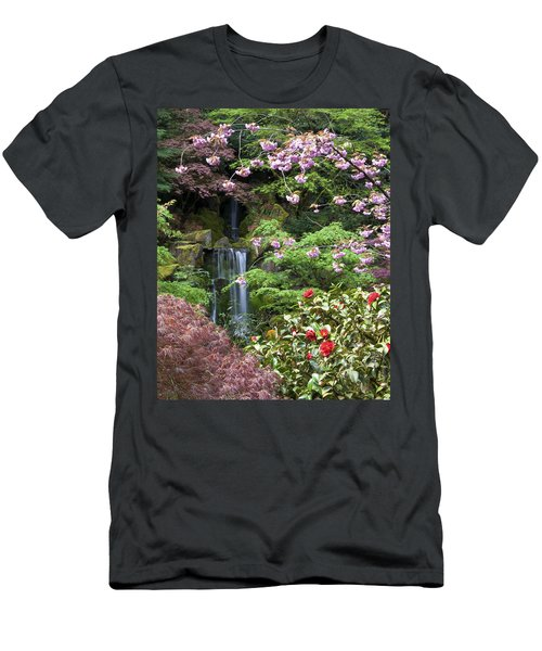 Arching Cherry Blossoms Men's T-Shirt (Athletic Fit)
