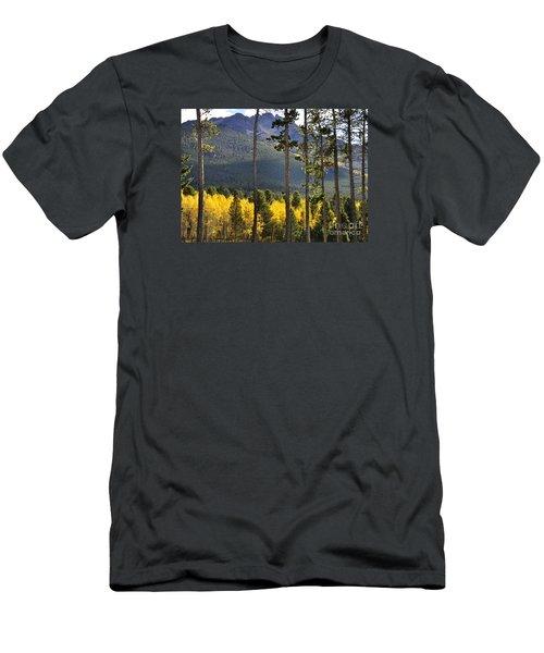 Men's T-Shirt (Slim Fit) featuring the photograph Aspen Heaven Long's Peak Area by Nava Thompson