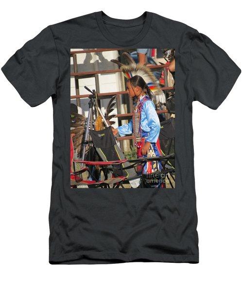 Men's T-Shirt (Athletic Fit) featuring the photograph At Blackfeet Pow Wow 03 by Ausra Huntington nee Paulauskaite