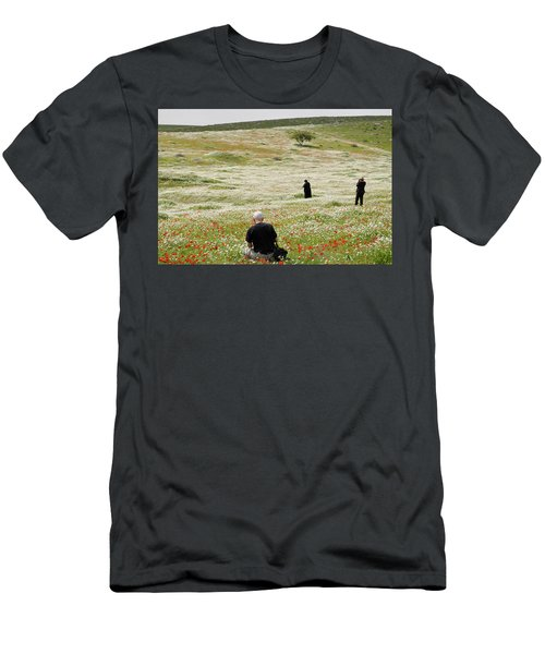 At Lachish's Magical Fields Men's T-Shirt (Athletic Fit)