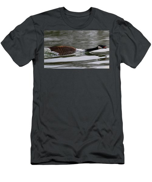 Men's T-Shirt (Slim Fit) featuring the photograph Attack Of The Canadian Geese by Elizabeth Winter
