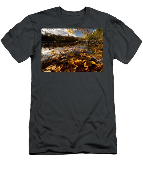 Autumn At Ragged Falls Men's T-Shirt (Athletic Fit)
