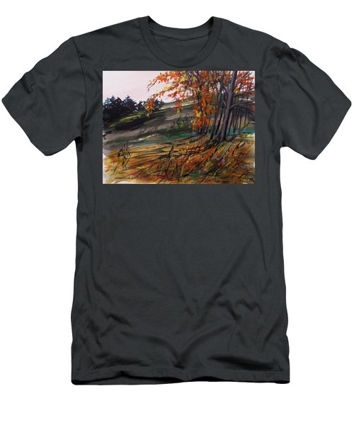 Men's T-Shirt (Slim Fit) featuring the painting Autumn Intensity by John Williams