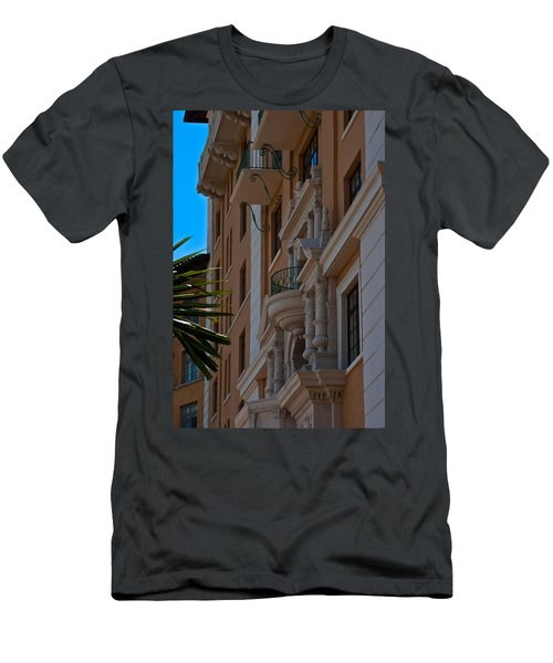 Men's T-Shirt (Slim Fit) featuring the photograph Balcony At The Biltmore Hotel by Ed Gleichman