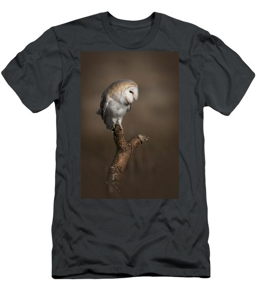 Barn Owl On The Lookout Men's T-Shirt (Athletic Fit)