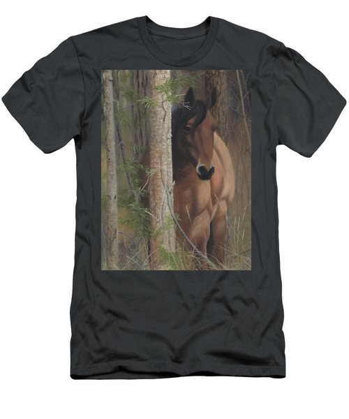Men's T-Shirt (Athletic Fit) featuring the painting Bashful by Tammy Taylor