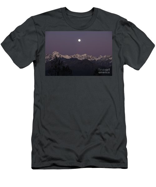 Men's T-Shirt (Slim Fit) featuring the photograph Bathed In Moonlight by Fotosas Photography