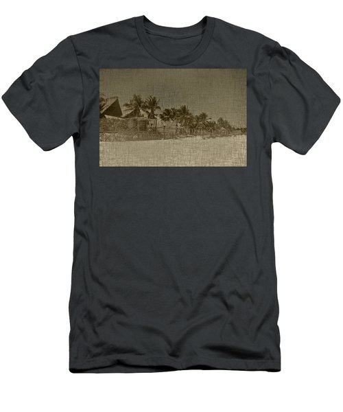 Beach Huts In A Tropical Paradise Men's T-Shirt (Athletic Fit)