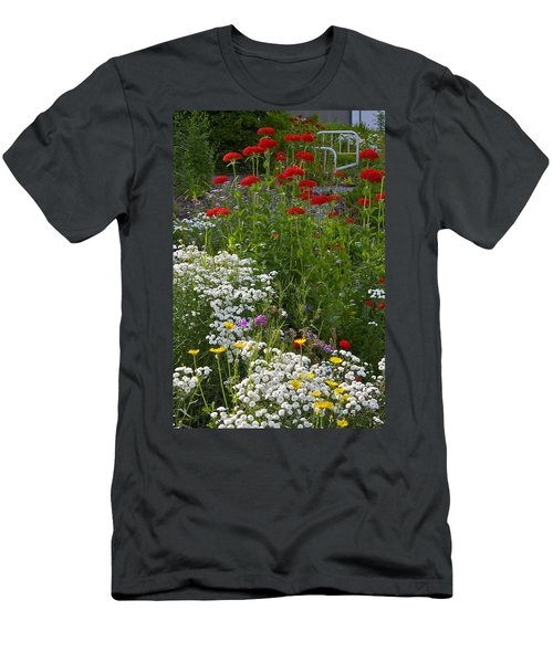 Bed Of Flowers Men's T-Shirt (Athletic Fit)