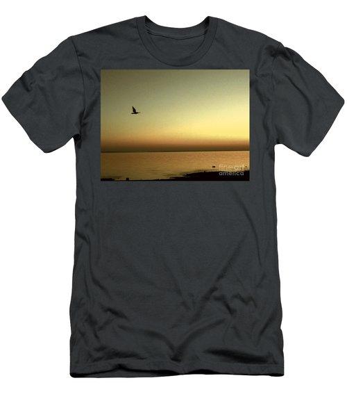 Bird At Sunrise - Sepia Men's T-Shirt (Athletic Fit)