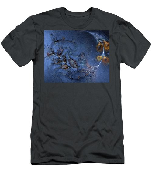 Men's T-Shirt (Slim Fit) featuring the digital art Birth Of The Cool by Casey Kotas