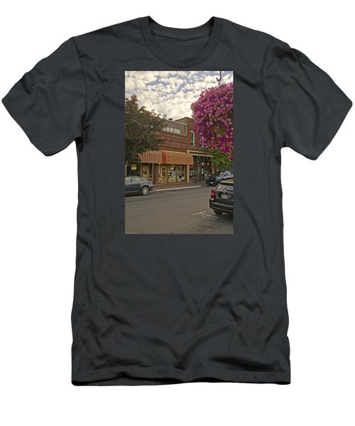 Blind Georges And Laughing Clam On G Street In Grants Pass Men's T-Shirt (Slim Fit) by Mick Anderson