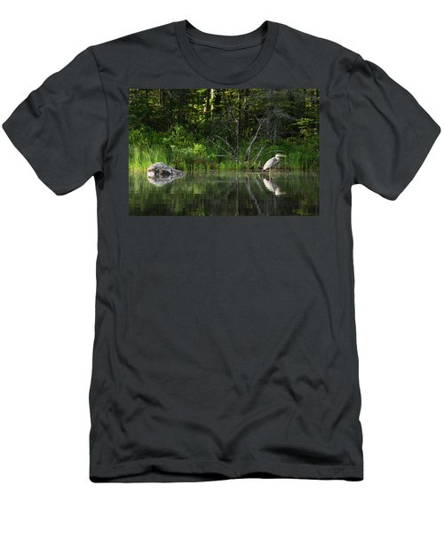 Blue Heron Long Pond Wmnf Men's T-Shirt (Athletic Fit)