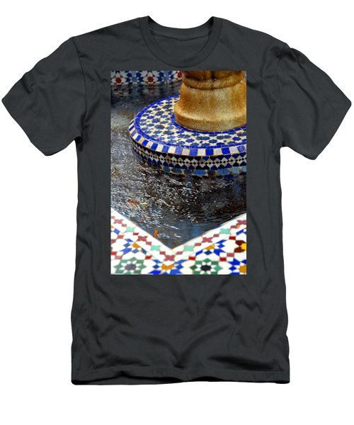 Blue Mosaic Fountain II Men's T-Shirt (Athletic Fit)