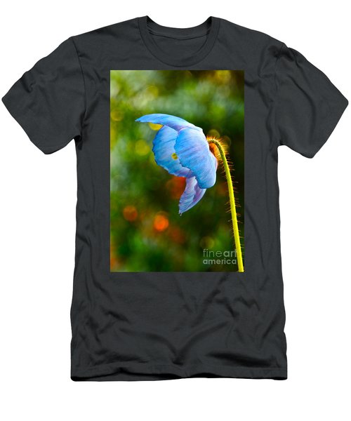 Blue Poppy Dreams Men's T-Shirt (Athletic Fit)