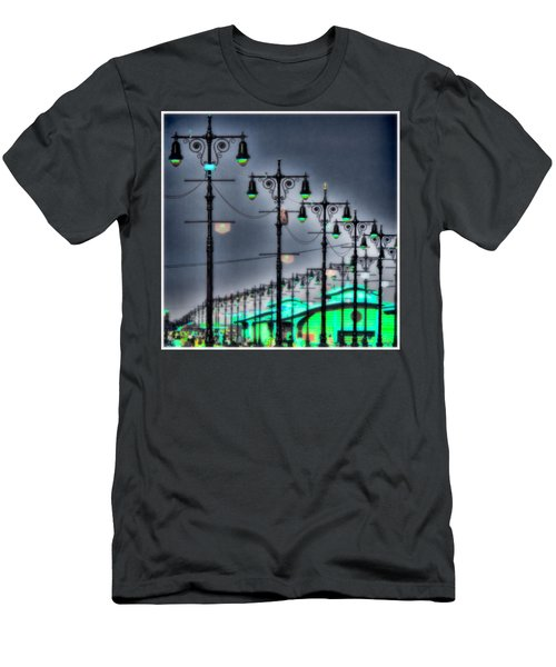 Men's T-Shirt (Slim Fit) featuring the photograph Boardwalk Lights by Chris Lord