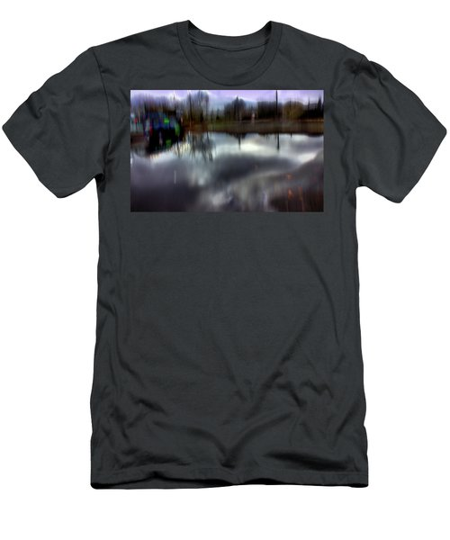 Men's T-Shirt (Slim Fit) featuring the mixed media Boat House I by Terence Morrissey