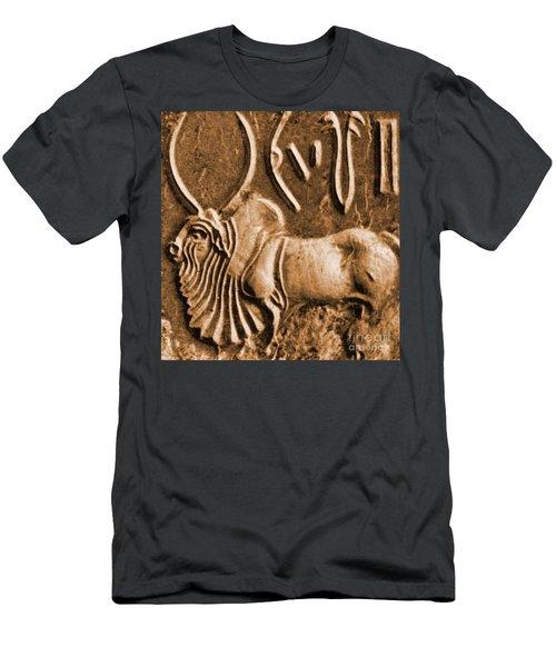 Brahman Bull On Ancient Seal Men's T-Shirt (Athletic Fit)