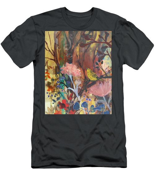 Men's T-Shirt (Slim Fit) featuring the painting Breath Of Cooler Air by Robin Maria Pedrero