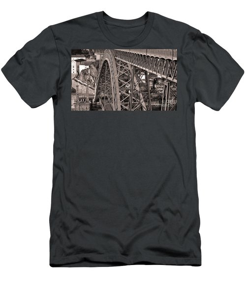 Bridge Construction Men's T-Shirt (Athletic Fit)
