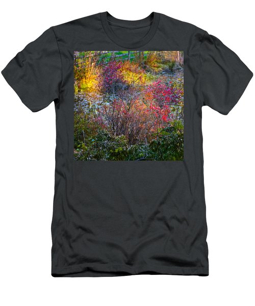 Men's T-Shirt (Athletic Fit) featuring the photograph Bright Autumn Light by Byron Varvarigos