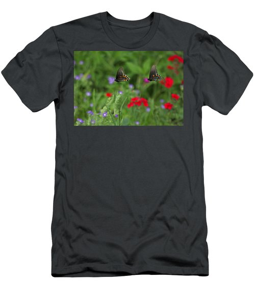 Butterfly Chase Men's T-Shirt (Athletic Fit)